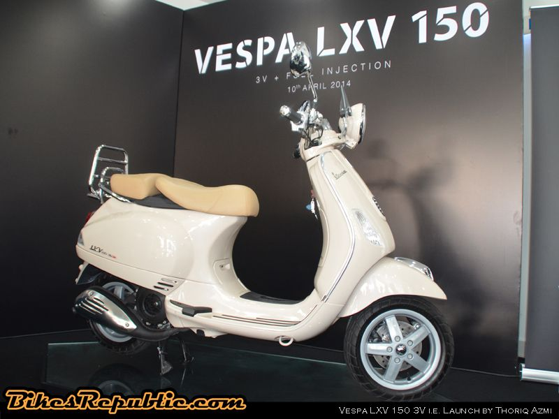 vespa lxv 150 3v i.e. malaysian debut - bikesrepublic