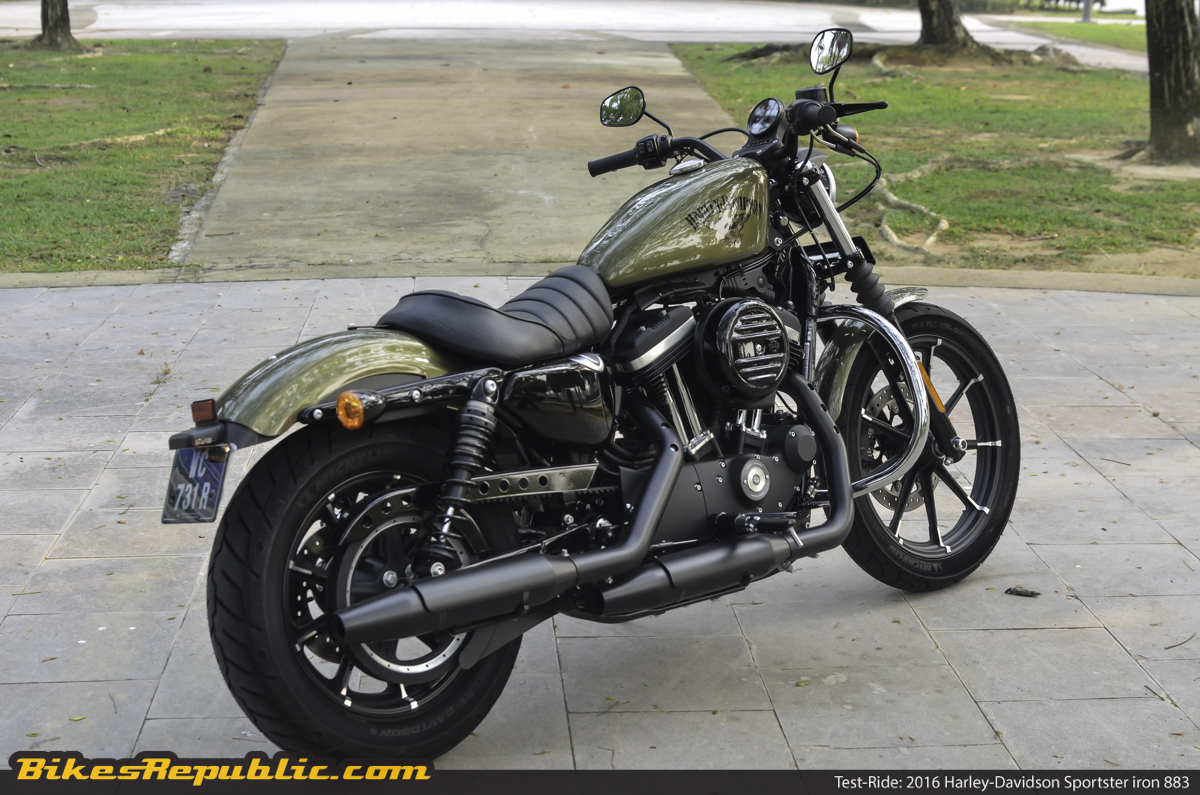 test ride 2016 harley davidson sportster iron 883. Black Bedroom Furniture Sets. Home Design Ideas