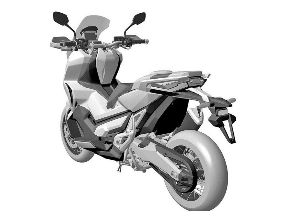 first look 2017 honda x adv adventure scooter bikesrepublic. Black Bedroom Furniture Sets. Home Design Ideas