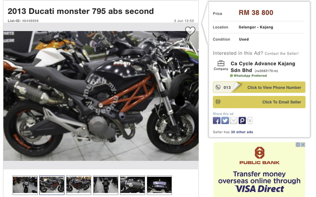 7 Used Bikes You Should Buy Right Now Bikesrepublic Two Brothers Ducati Monster 696 Black Series Dual Slip On Exhaust Systems 1 2013 795 Abs