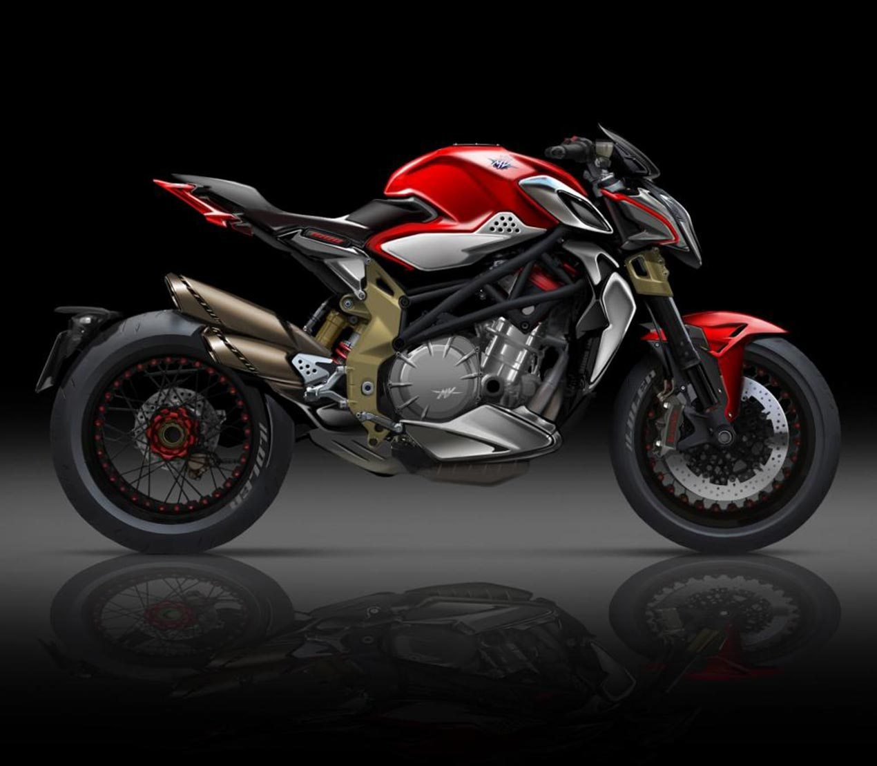 new mv agusta brutale with four cylinder engine coming soon bikesrepublic. Black Bedroom Furniture Sets. Home Design Ideas