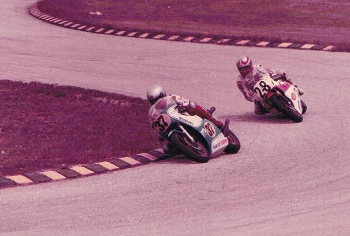 Oh Kah Beng racing against Keiji Kinoshita in Batu Tiga,1980. (Image source: Facebook)