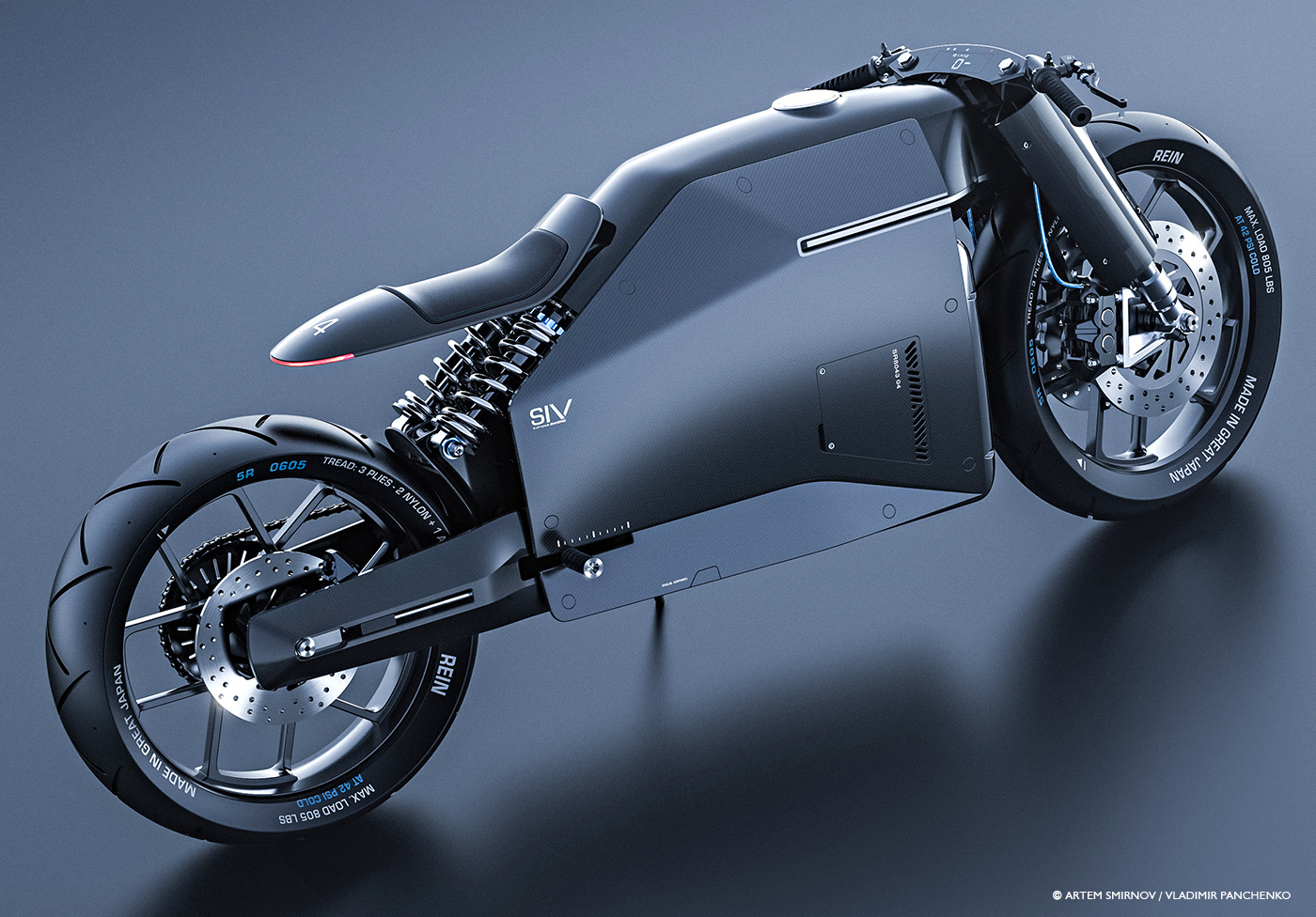Samurai Inspired Motorcycle Concept Design Wrapped in Carbon Fiber ...