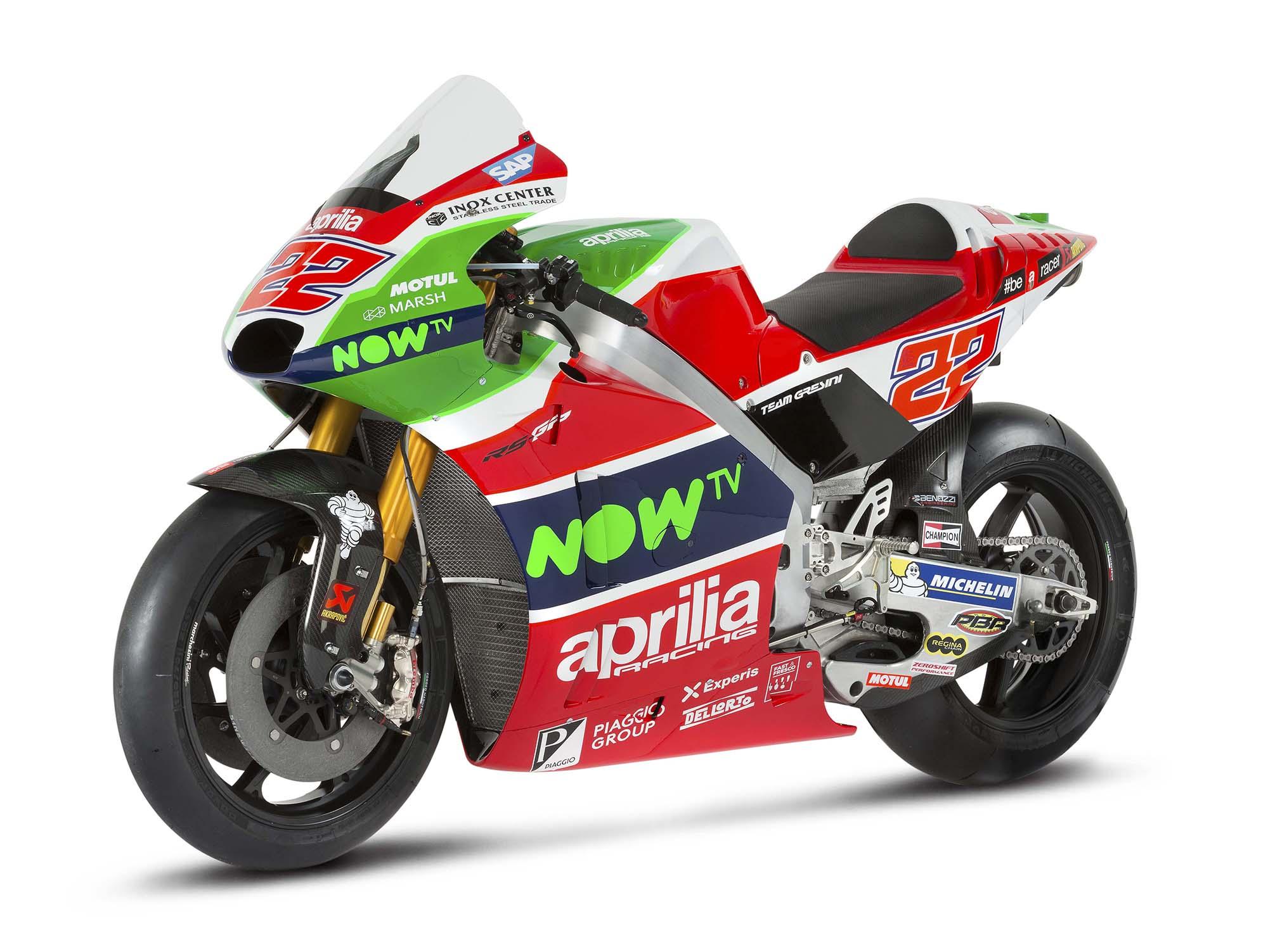 MotoGP: Aprilia Unveals the RS-GP Bike Livery for 2017 season - BikesRepublic