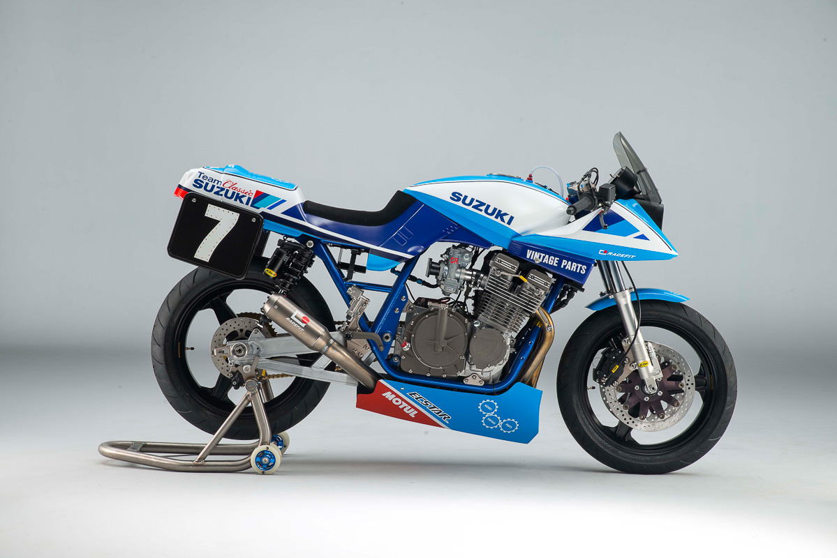 Suzuki GSX1100SD Katana Race Bike from Team Classic Suzuki ... Race Bike Photos