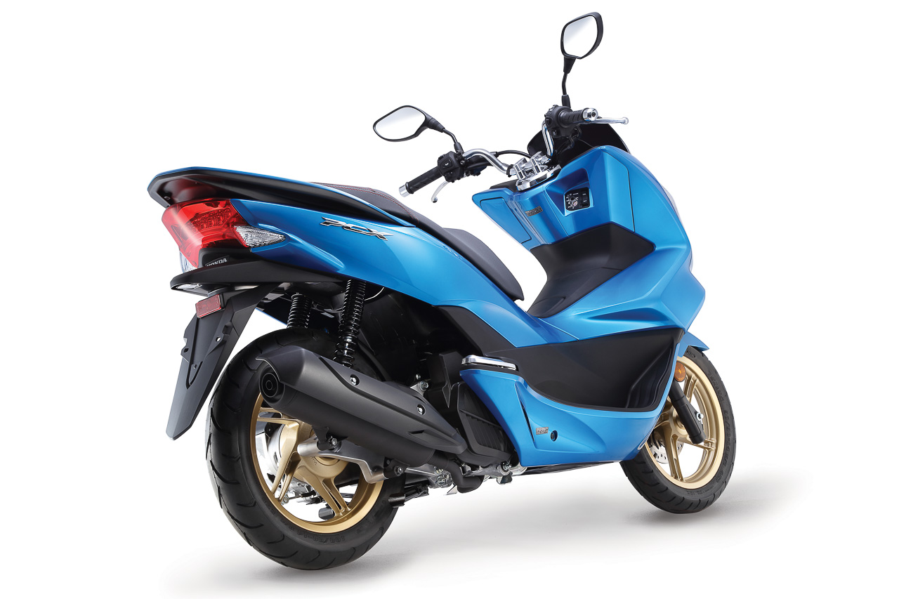 new colour for the honda pcx and nss300 candy caribbean blue sea. Black Bedroom Furniture Sets. Home Design Ideas