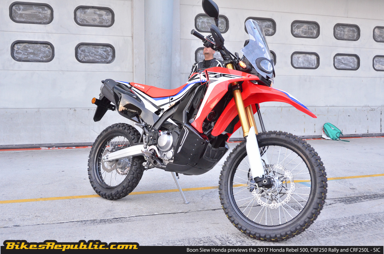 boon siew honda previews three new upcoming models rebel 500 crf250l crf250 rally. Black Bedroom Furniture Sets. Home Design Ideas
