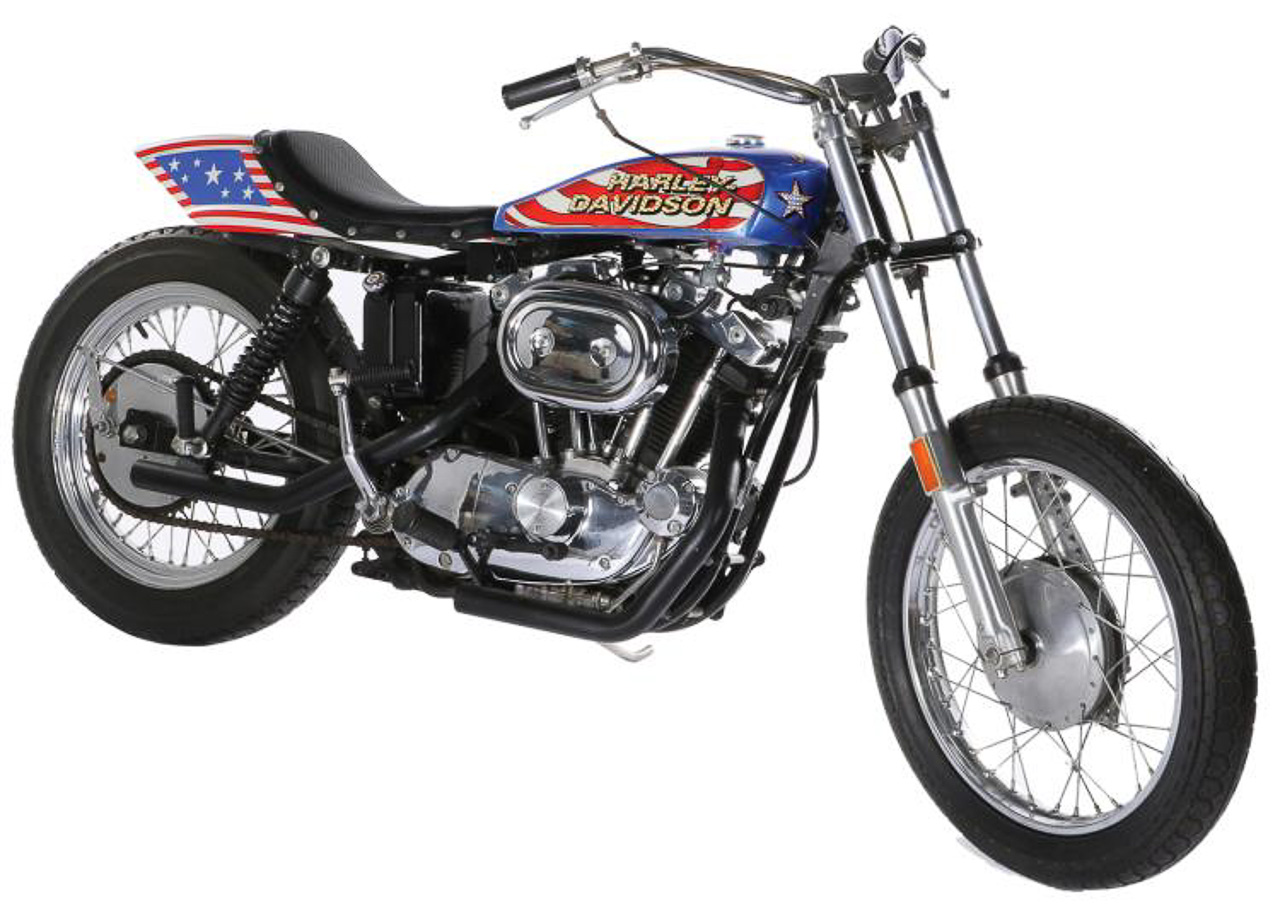 Evel Knievel S Harley Davidson Xl1000 Up For Auction: Evil Knievel Stunt Bike For Sale
