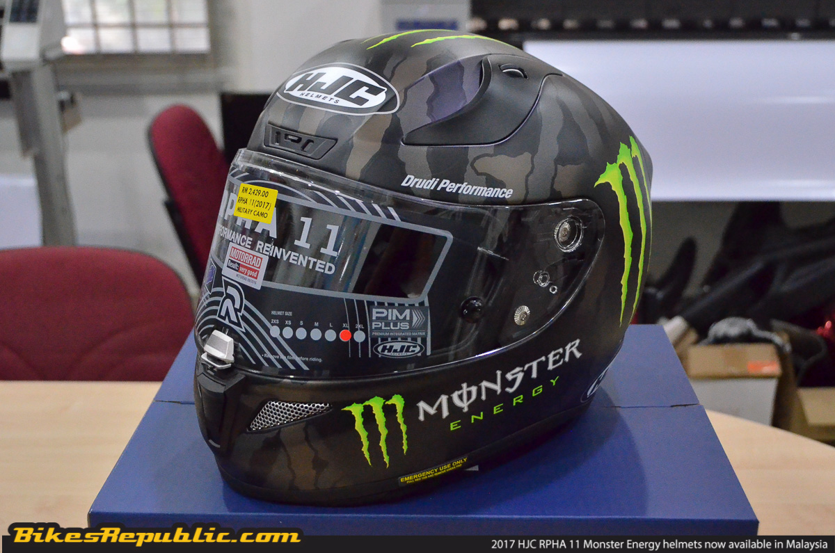 Hjc Rpha 11 >> 2017 HJC RPHA 11 Monster Energy series helmet Bikes ...