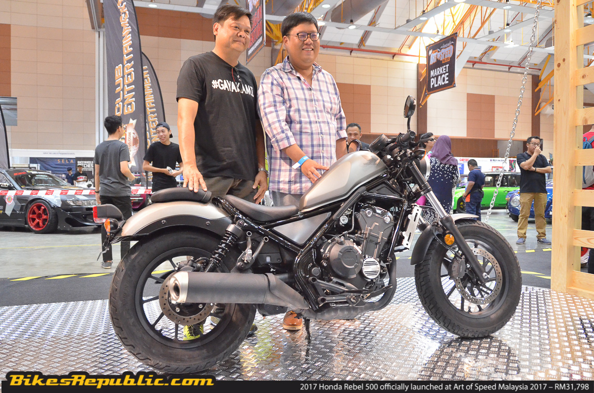 2017 Honda Rebel 500 officially launched at Art of Speed Malaysia 2017 – RM31,798! - BikesRepublic