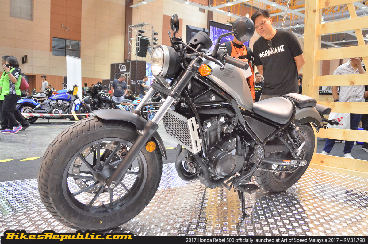 2017 honda rebel 500 officially launched at art of speed malaysia 2017 rm31 798 bikesrepublic. Black Bedroom Furniture Sets. Home Design Ideas