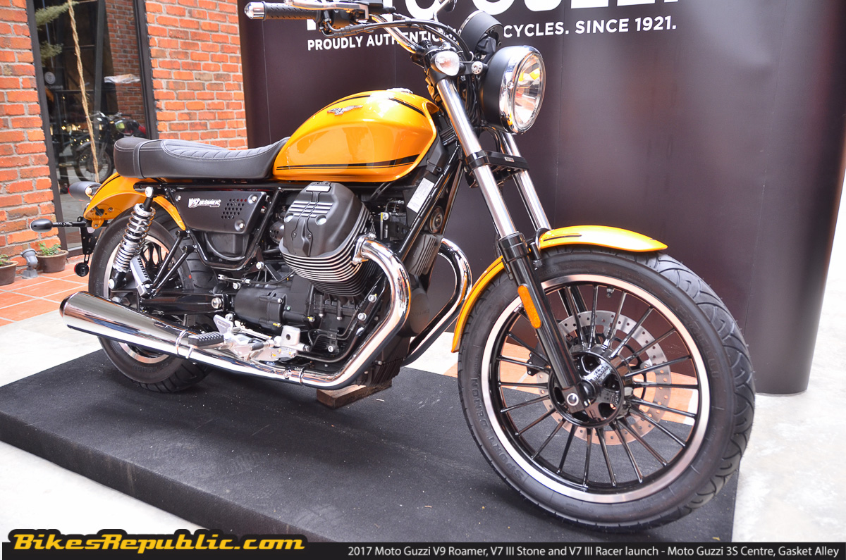 2017 moto guzzi v7 iii stone v7 iii racer and v9 roamer launched from rm66 900 bikesrepublic. Black Bedroom Furniture Sets. Home Design Ideas