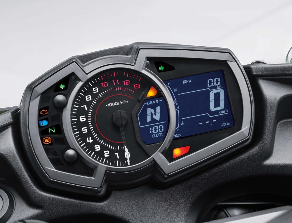 The Tach Needle Changes Colour From White To Pink Red As It Swings Up Kawasaki Z650