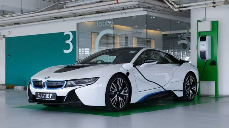 Bmw I8 Charing At Capitaland Stationjpg Bikesrepublic