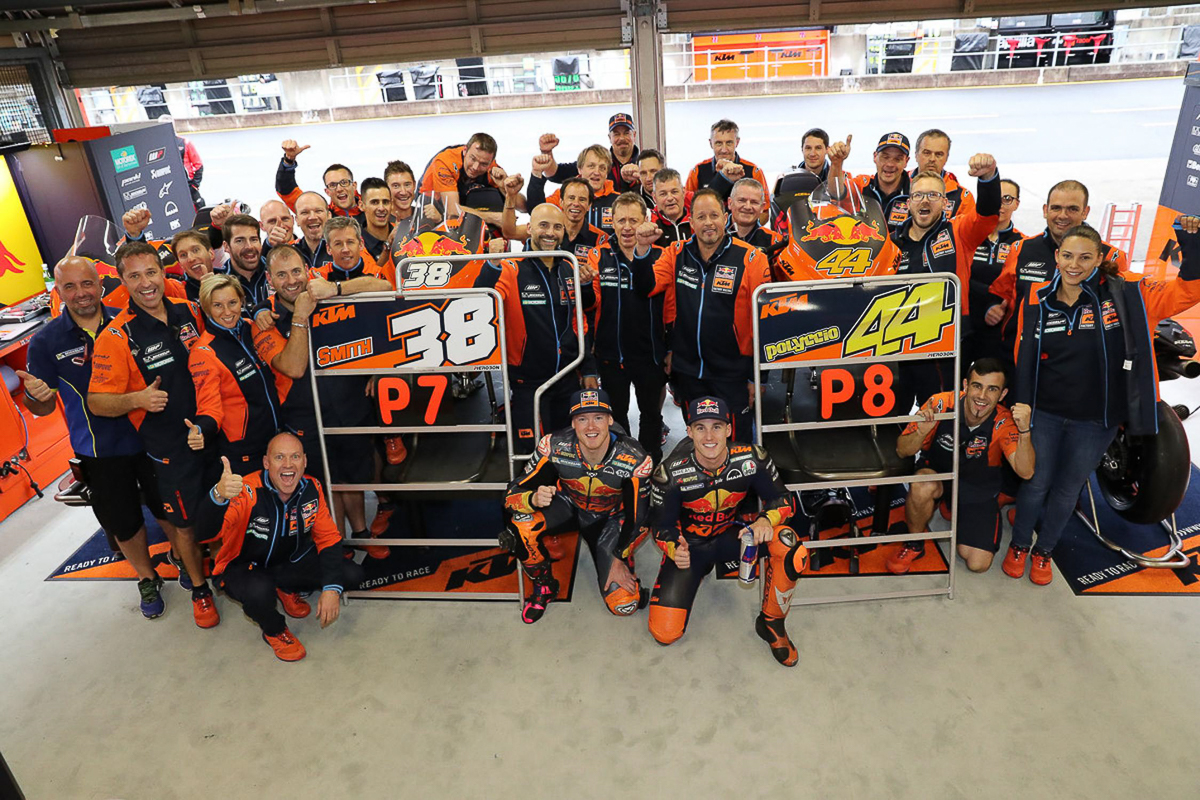 2018 ktm team. plain 2018 it can be seen with a superb qualifying session this past weekend where  both riders made it into q2 despite harsh weather conditions at the twin ring motegi  inside 2018 ktm team