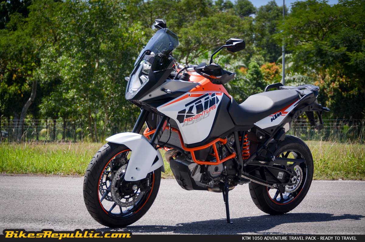 ktm 1050 adventure travel pack � ready to travel