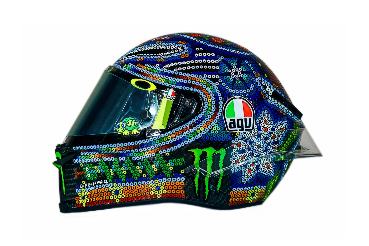 Rossi's AGV Pista GP R gets Mexican flavour for 2018 MotoGP winter test! - BikesRepublic