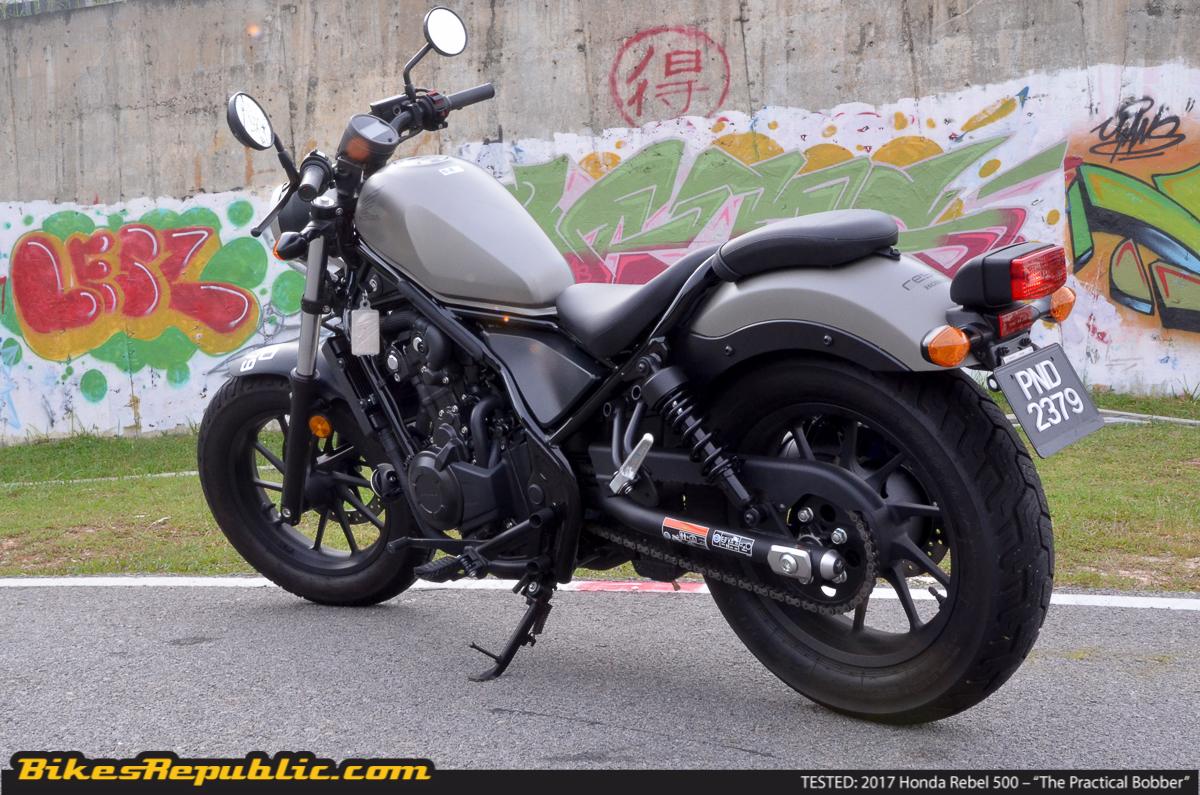 2017 honda rebel 500 test ride review 47 bikesrepublic. Black Bedroom Furniture Sets. Home Design Ideas