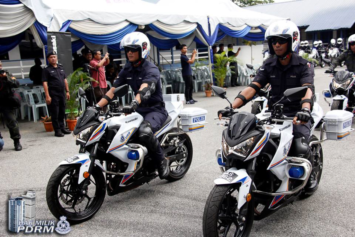 PDRM Receives 871 New Kawasaki Z250 Amp KLX250 For 2018