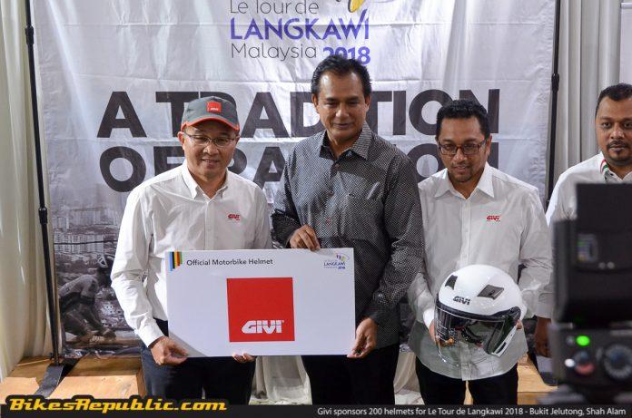 Givi Sponsors 200 Helmets For Le Tour De Langkawi 2018