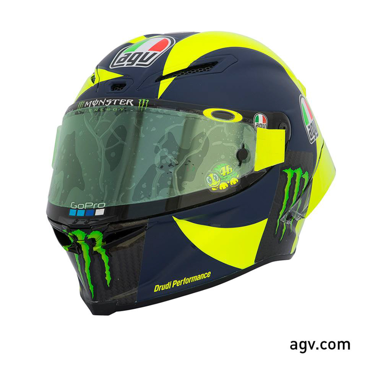 rossi goes old school with 2018 agv pista gp r bikesrepublic. Black Bedroom Furniture Sets. Home Design Ideas
