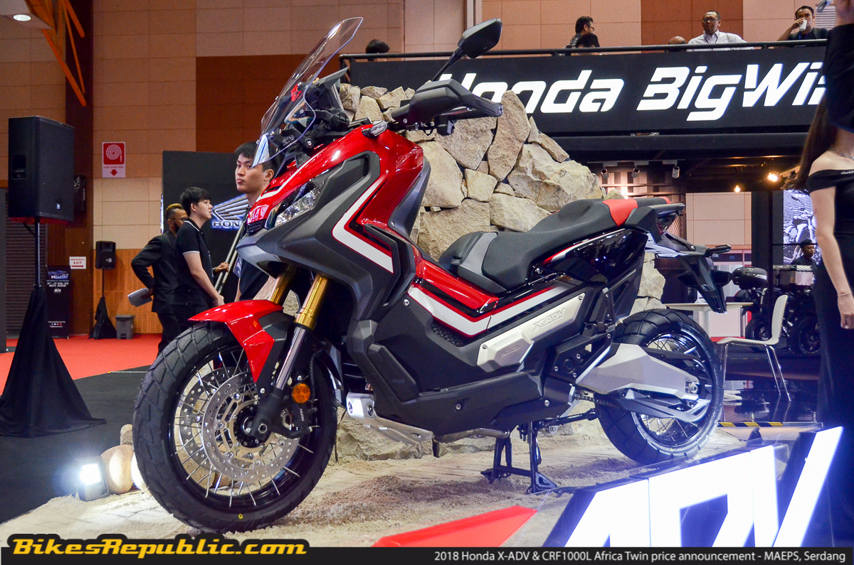 2018 honda x adv africa twin prices announced from rm57 999 bikesrepublic. Black Bedroom Furniture Sets. Home Design Ideas