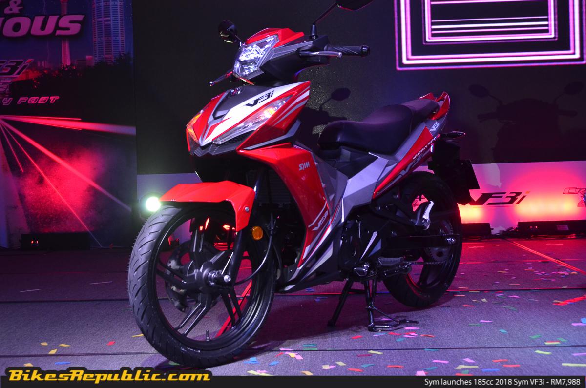 Sym launches 185cc 2018 Sym VF3i - RM7,988! - BikesRepublic