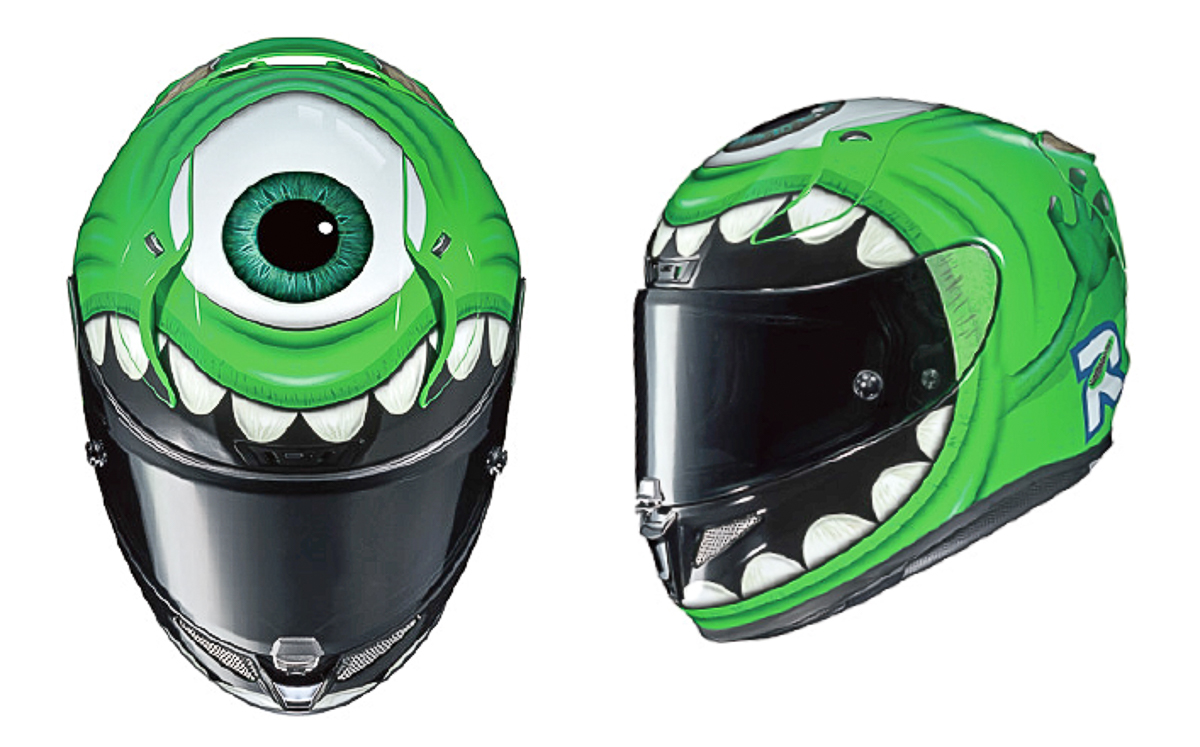 Check out this 2018 HJC RPHA 11 Mike Wazowski from Monsters Inc!