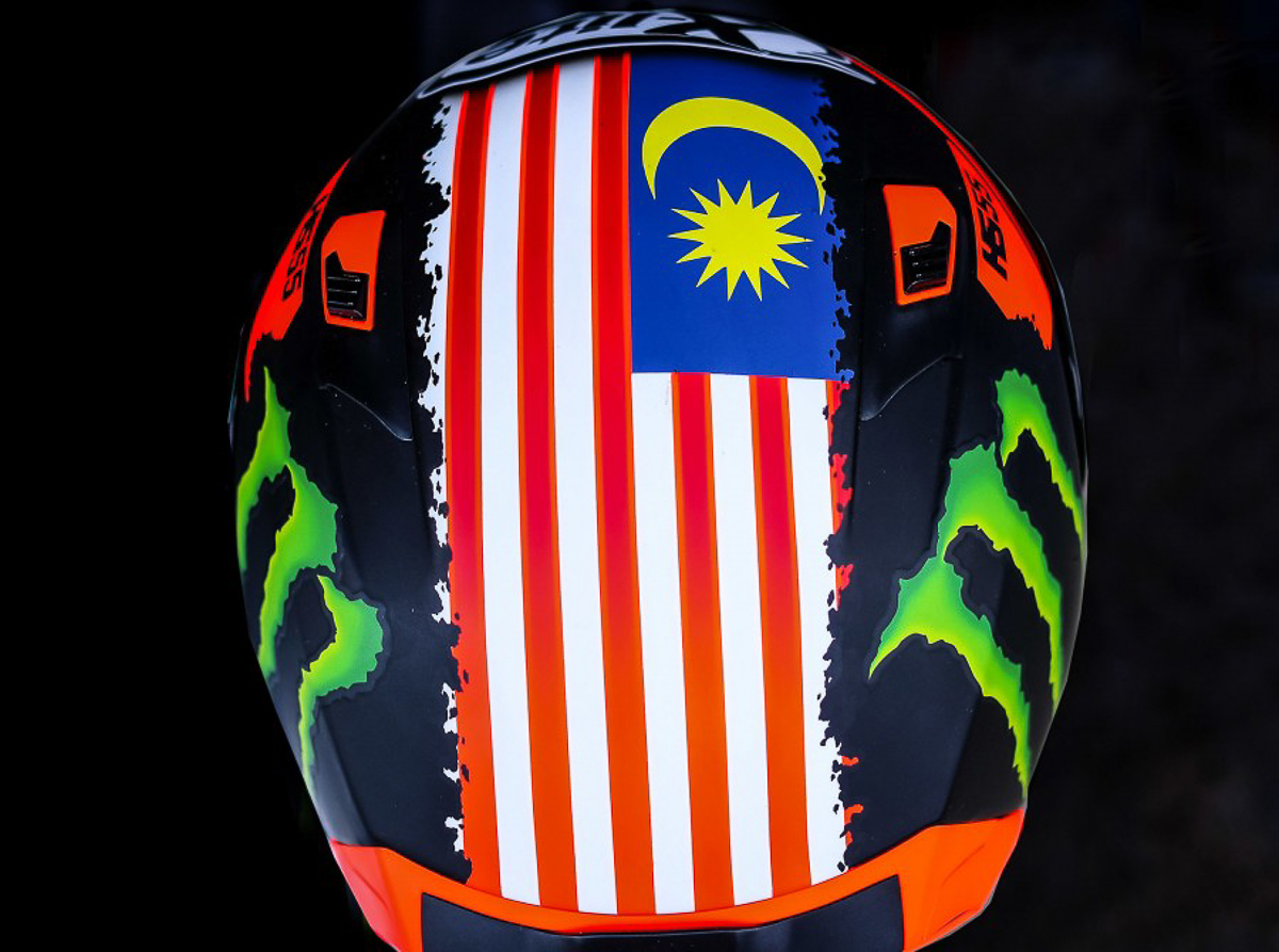 Hafizh Syahrin's replica helmet now available for booking! RM1,500