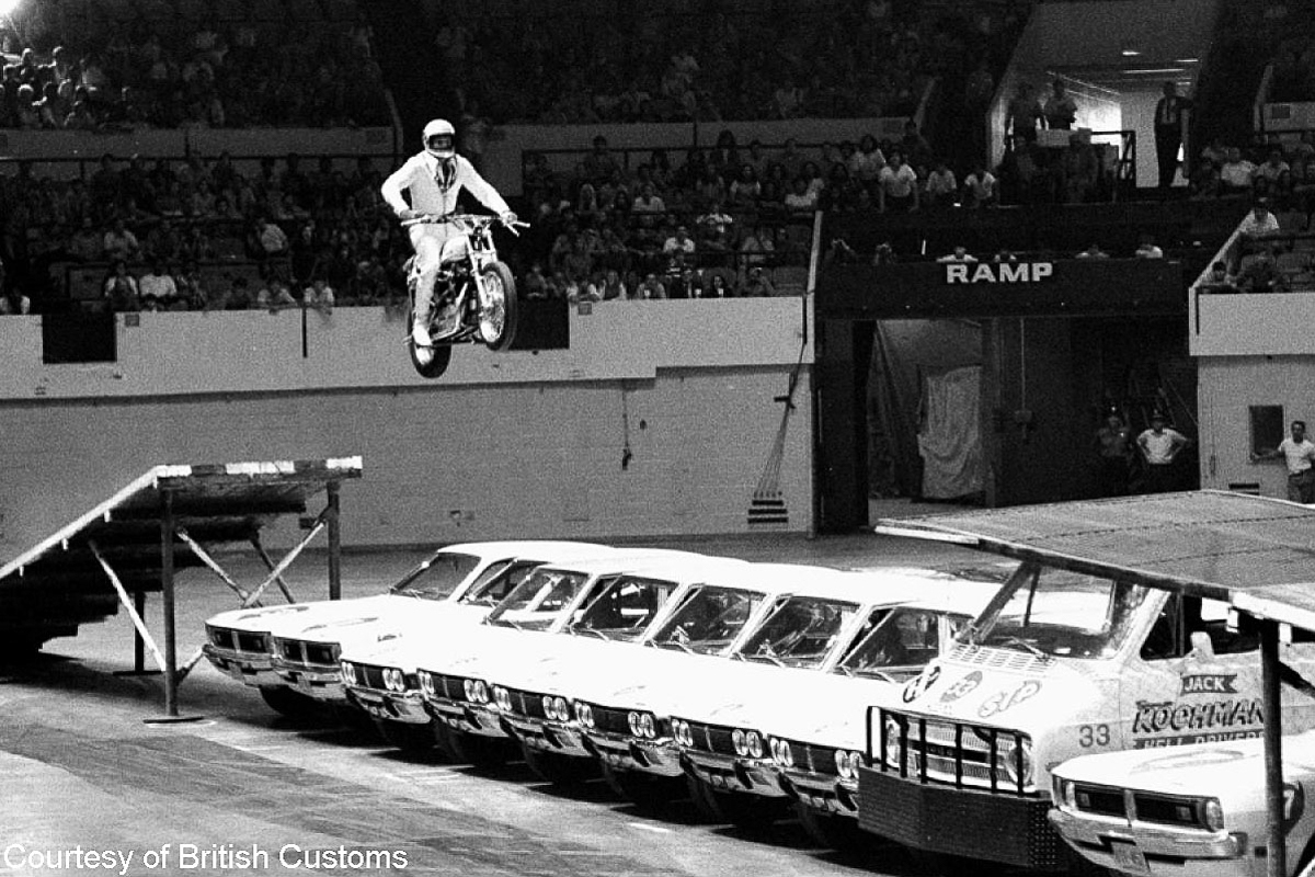 Evel Knievel Motorcycle Daredevil Jumper On His Harley: Travis Pastrana Is Going To Jump Over 52 Cars, 16 Buses
