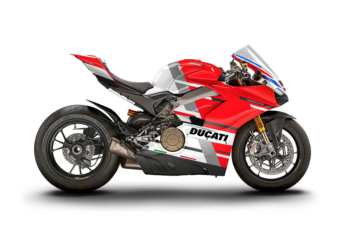 12 ducati panigale v4 s race livery bikes up for auction bikesrepublic. Black Bedroom Furniture Sets. Home Design Ideas