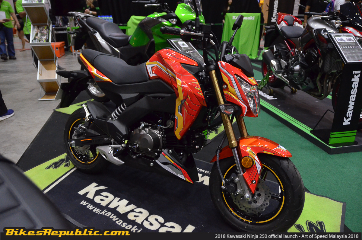 KMSB Also Unveiled Two Very Special Editions Kawasaki Z125 Which Are The Anak Malaysia And Iron Man Inspired Decals No Prices Have Been Announced Yet