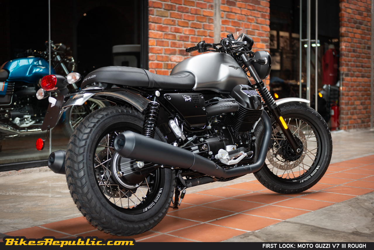 first look review 2018 moto guzzi v7 iii rough. Black Bedroom Furniture Sets. Home Design Ideas