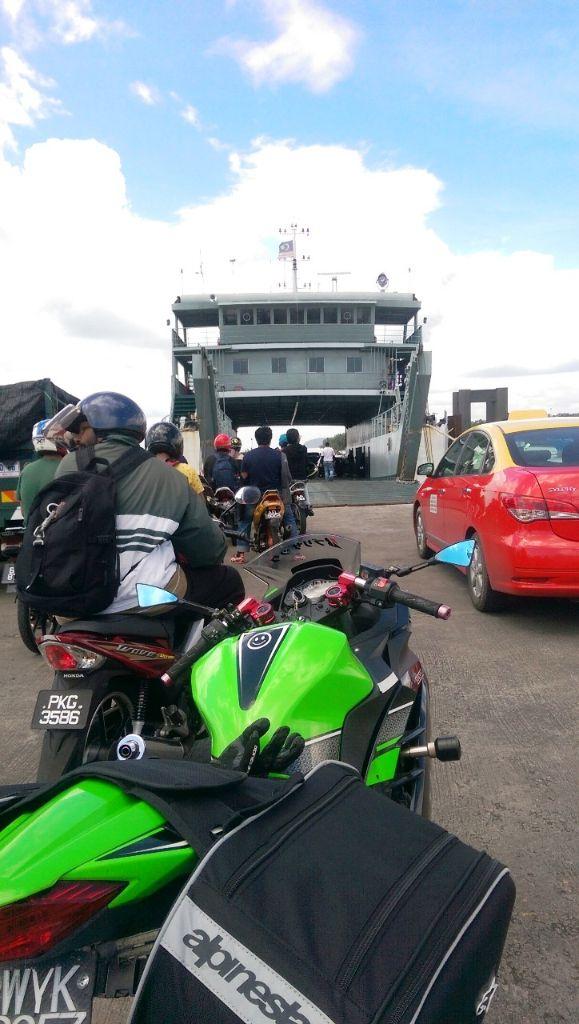 Boarding ferry
