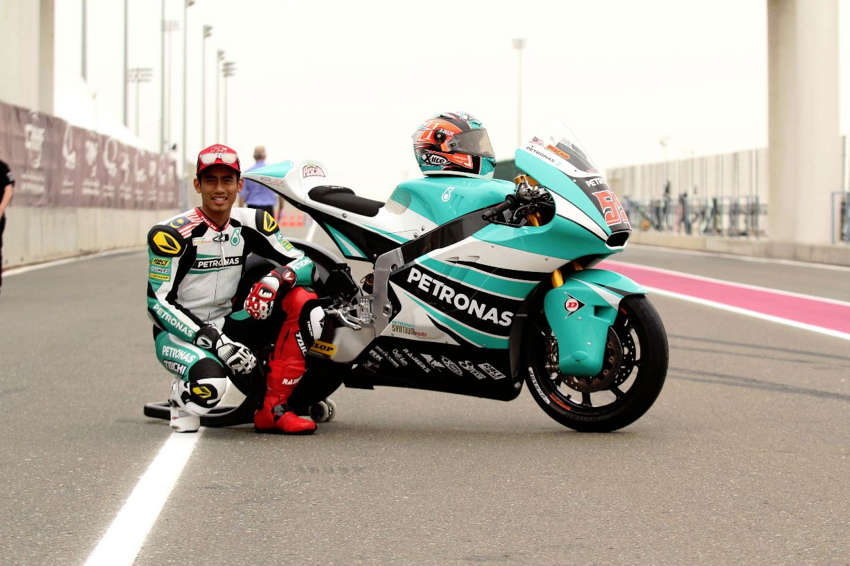 Hafizh Syahrin with his 2015 Kalex contender