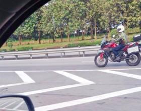New adventure bike caught on road – spy shot