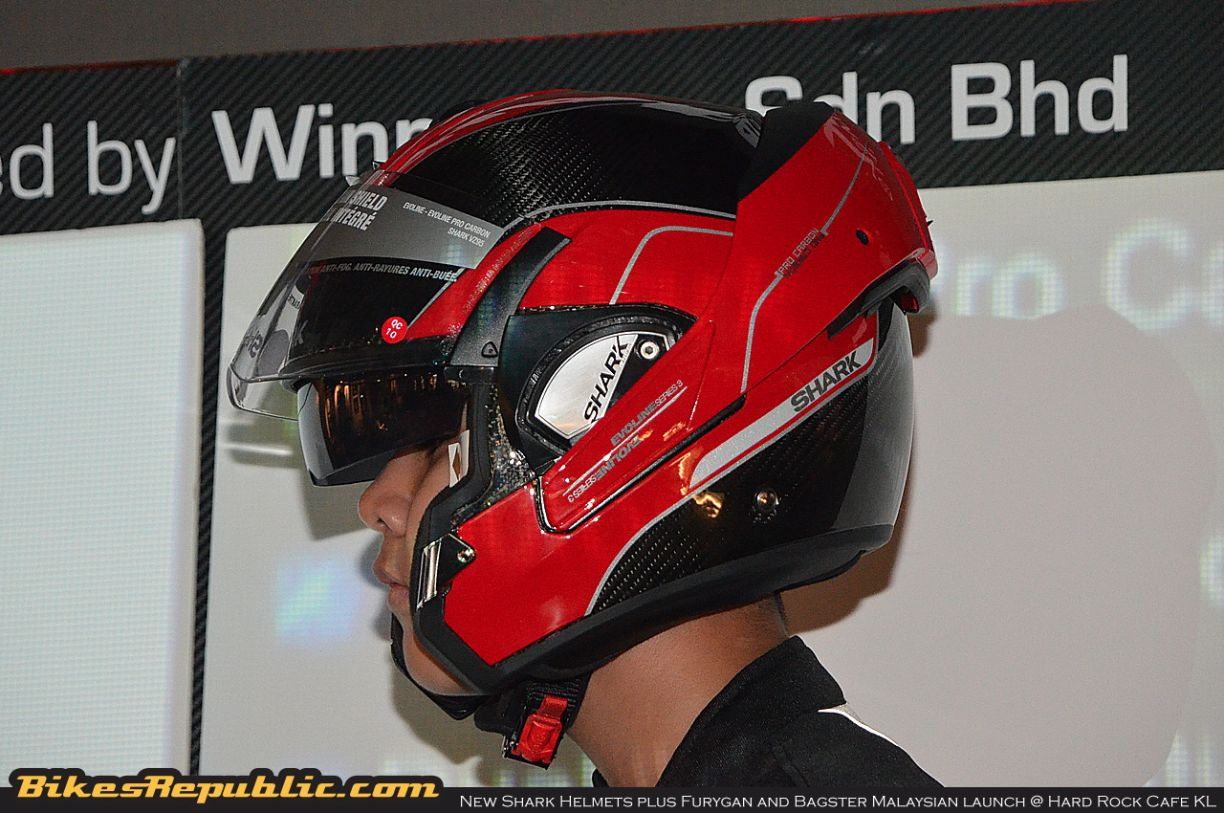new shark helmets plus furygan and bagster malaysian launch. Black Bedroom Furniture Sets. Home Design Ideas