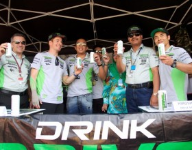 New Drive M7 carbonated energy drink launched @ Malaysian MotoGP
