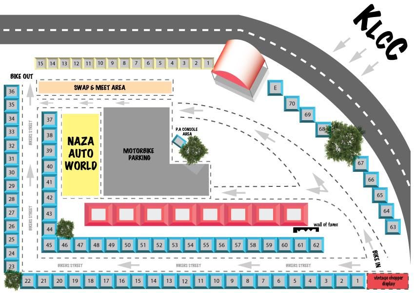 KL Bike Week 2013 Map