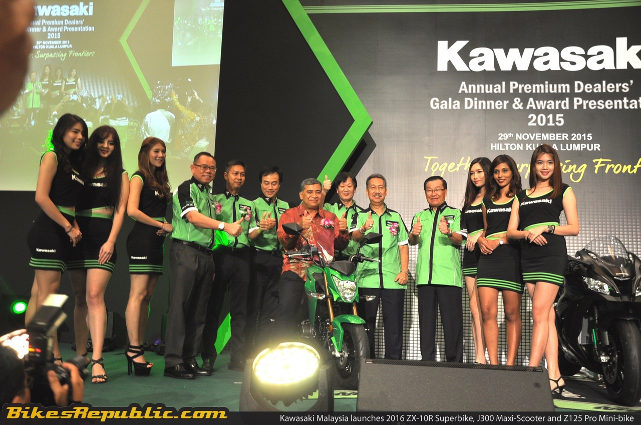 Kawasaki Malaysia Launched ZX-10R, J300 ABS and Z125 Pro