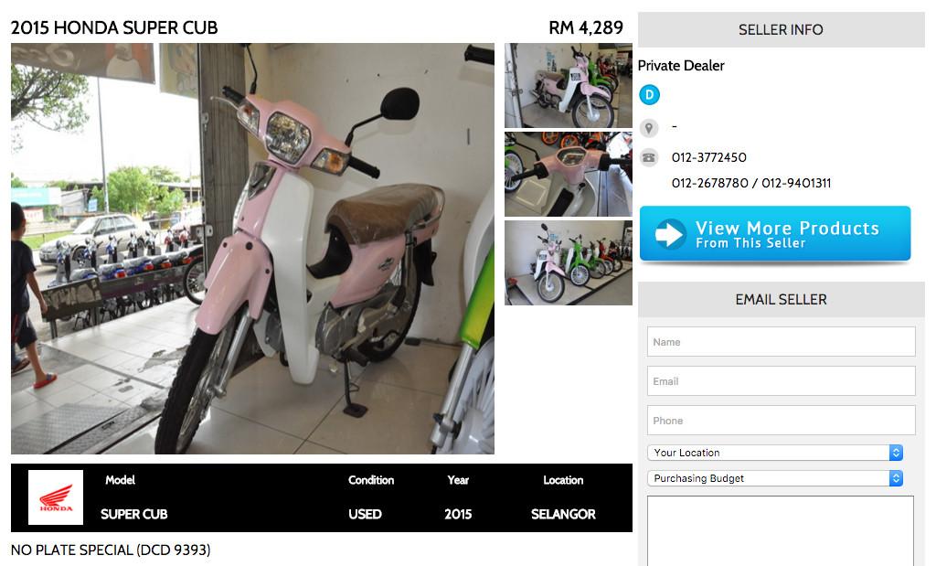 Honda Super Cub BikeTrader Ad