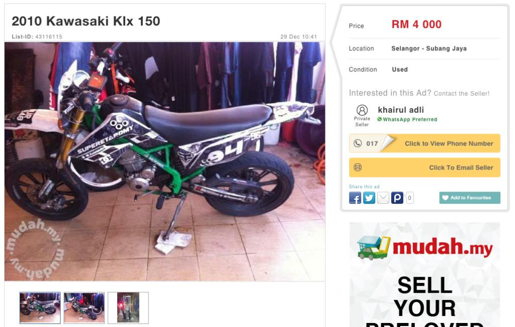 Kawasaki KLX 150 Mudah Ad