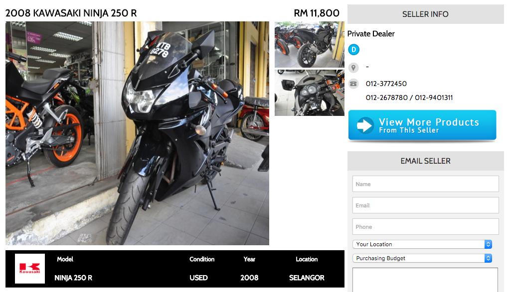 Kawasaki Ninja 250R BikeTrader Ad