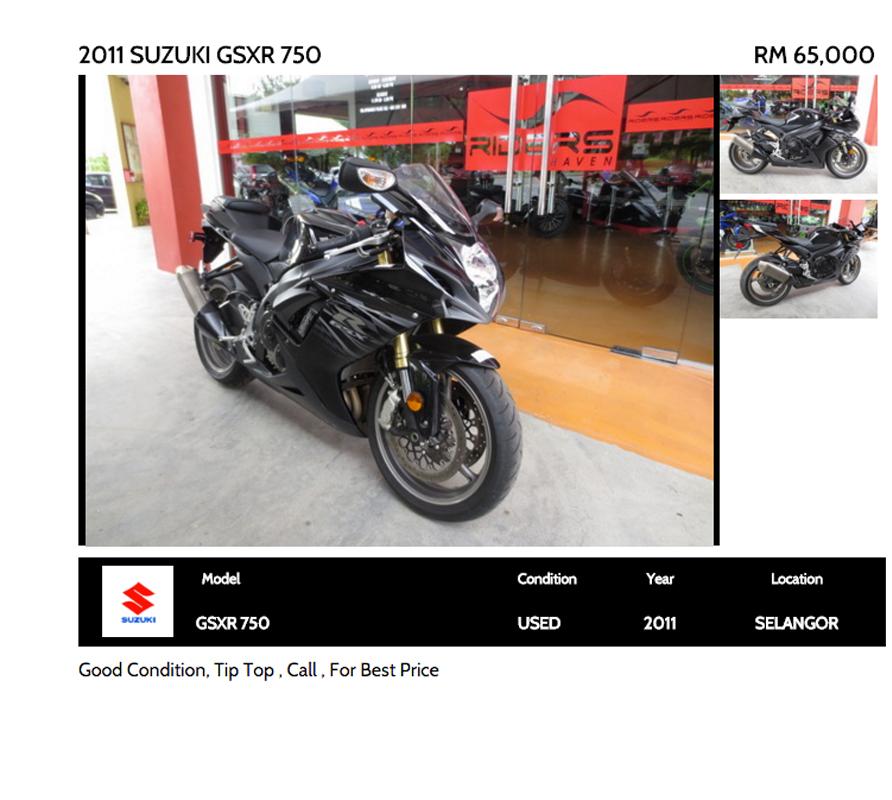 3. 2011 Suzuki GSX-R750