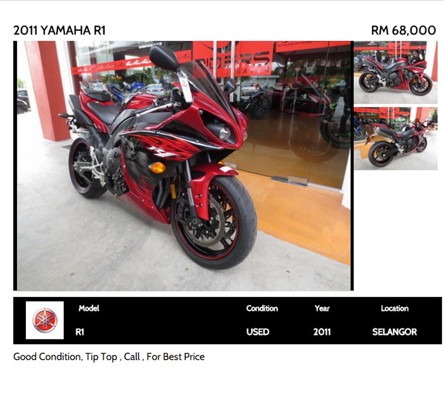 6. 2011 Yamaha R1