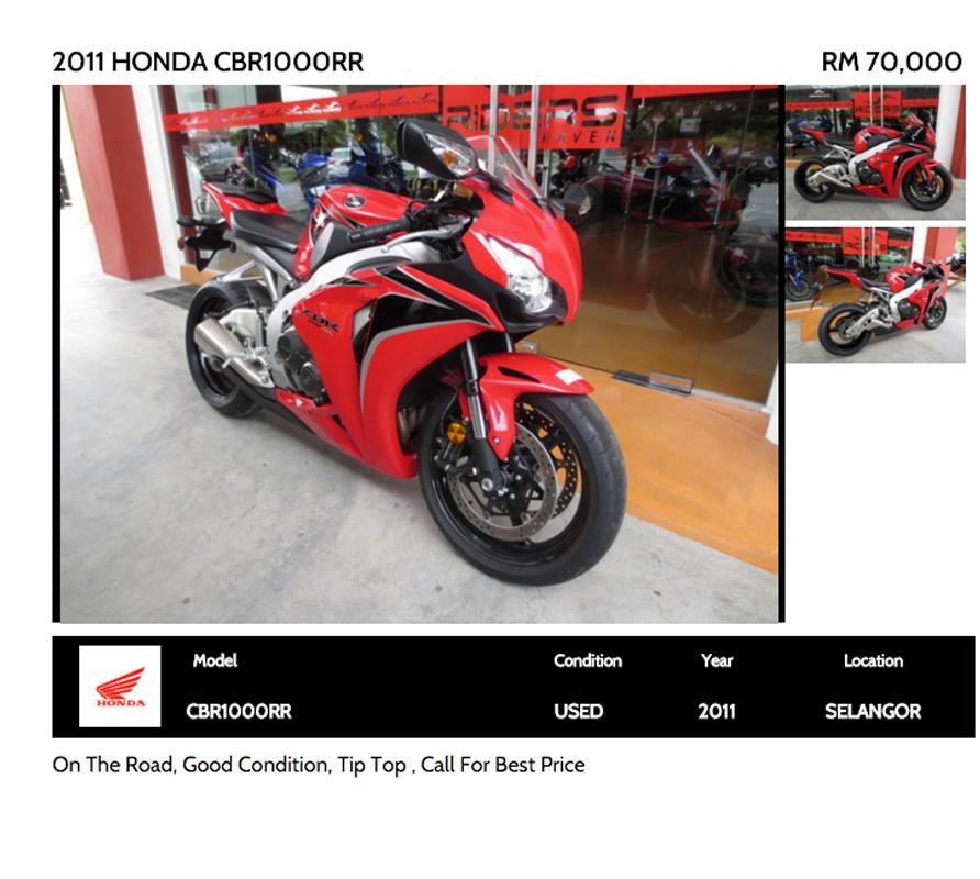 7. 2011 Honda CBR1000RR