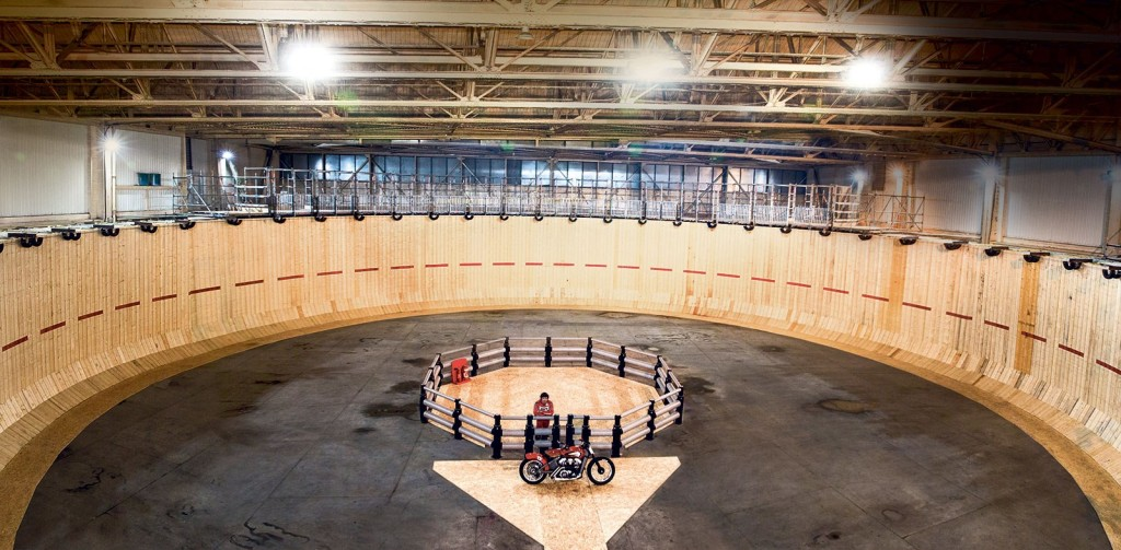 With a diameter of 40 metres, this was the largest Wall of Death ever constructed
