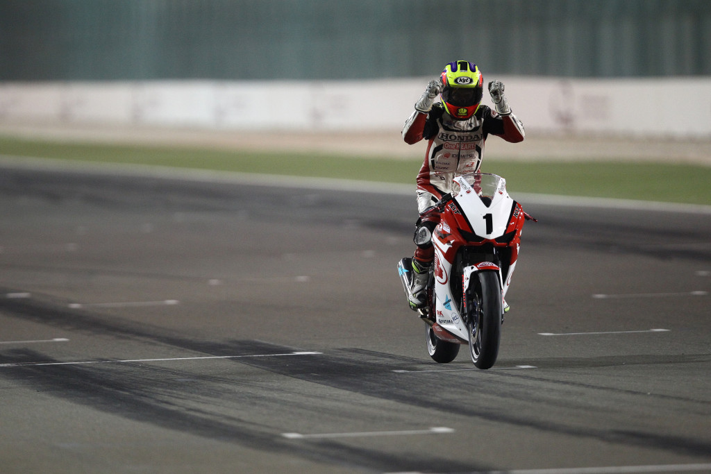Khairul Idham in action during Asia Dream Cup race in Qatar, 2014