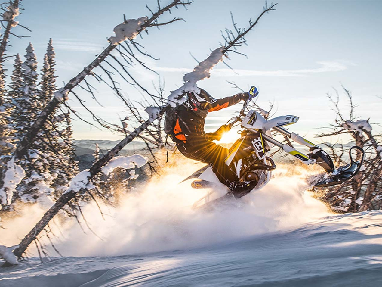 Converting Dirt Bikes Into Snow Bikes With Timbersled