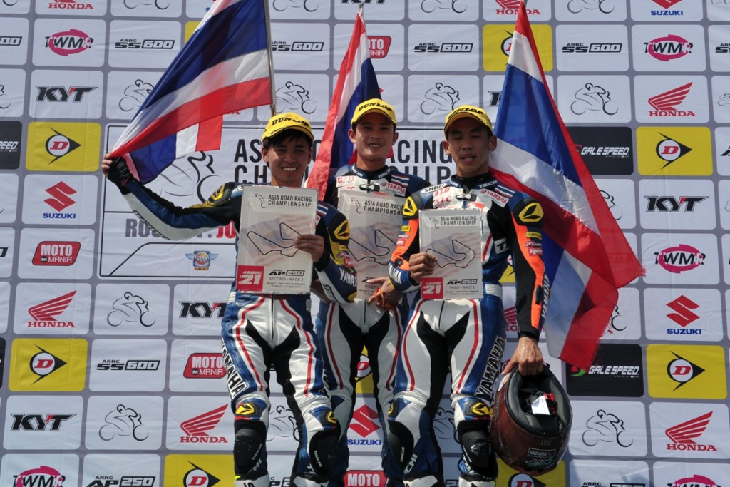 AP250 Race 2 podium